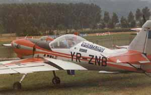 Romanian Zlin taxies out